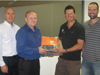 BlueScope Lysaght's Lyndhurst site donated overalls and boots to the local branch of Operation Newstart